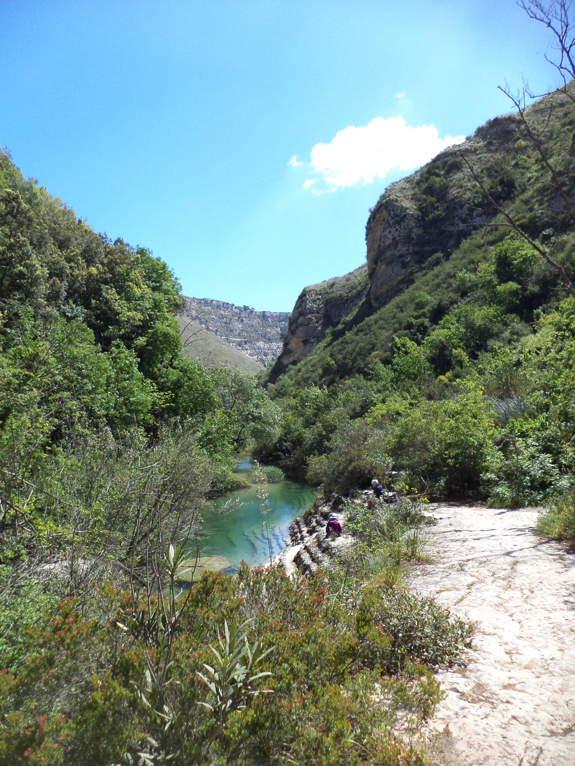 Fiume Cassibile, trekking laghetti di avola, siracusa trekking