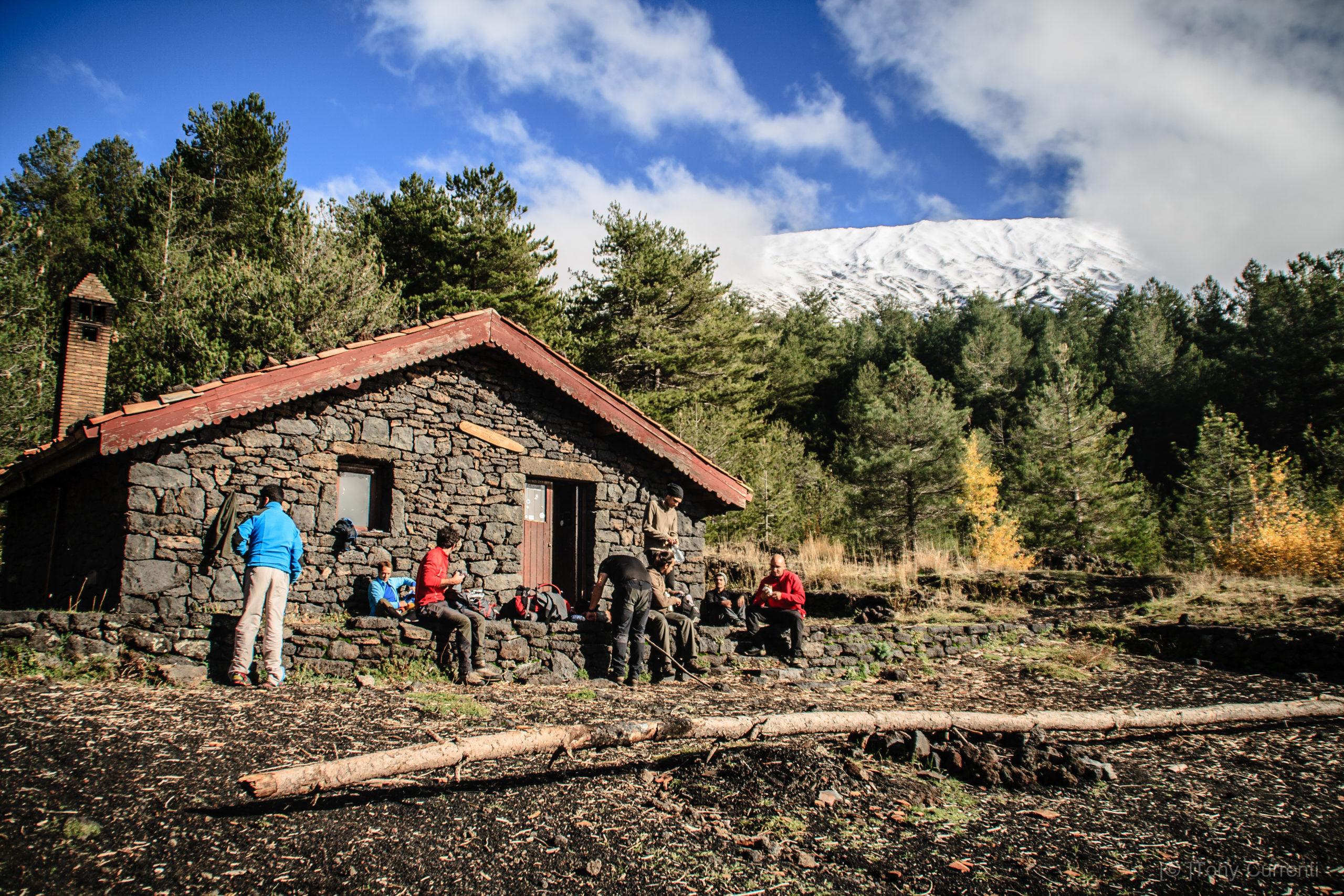 trekking etna rifugi, Bushcraft etna